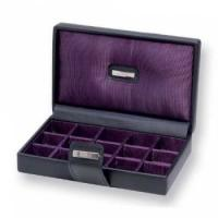 Buy cheap full black color hinged watch box with EVA pad and cushion from Wholesalers