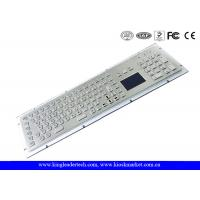 Buy cheap Stainless Steel Industrial Keyboard With Touchpad High Vandal-Proof With USB Interface from Wholesalers