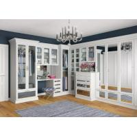 Buy cheap MDF U Shape Walk In Closet Wardrobe With Hang Rob , Simple Design Drawings from Wholesalers