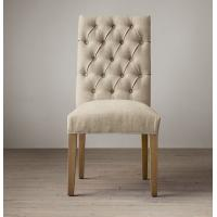 weathered oak drifted fabric covered dining room chairswith Thickly padded seat