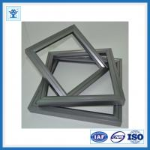 Silver anodized aluminium solar frame for solar panel mounting