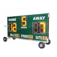 Quality 20'' 500mm Height Portable Baseball Scoreboard With Wheel Moving Stand wholesale
