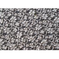Buy cheap Allover Flower Stretch Lace Fabric 45% Nylon 40% Rayon 15% Spandex OEM / ODM CY-LW0104 from Wholesalers