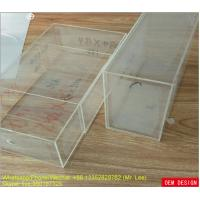 Clear Acrylic Shoe Box Display And Storage Drawer Box With Silk Screen Logo
