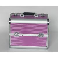 Buy cheap Rose Red Aluminium Beauty Case with Striped ABS Panel from Wholesalers
