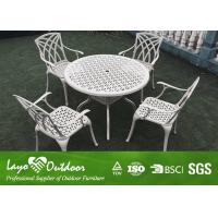 With 20 Years Experience Factory Modern Design Patio Outdoor Furniture Casting Table And Chairs 5pcs Per Set