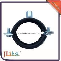 Buy cheap M8+M10 Rubber lined High strength Heavy duty hose clamp cast iron pipe clamp from wholesalers