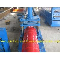 Buy cheap Glazed Metal Roof Ridge Cap Roll Forming Machine For Cinema Cap , Customized Profile from Wholesalers