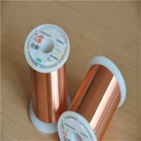 Buy cheap Transformer Copper Enamel Coated Magnet Wire Uew 155 0.01mm Superfine from wholesalers