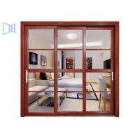 Buy cheap Heat Transfer Aluminium Sliding Windows Wood Grain Color Customzied Size from wholesalers