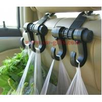 Quality New Double Auto Car Back Seat Headrest Hanger Holder Hooks Clips For Bag Purse Cloth Grocery Automobile Accessories for sale