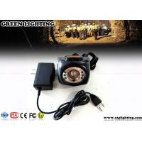 Buy cheap Cordless Hard Hat Lights with LCD Screen Black Classic Mining Headlamp from Wholesalers