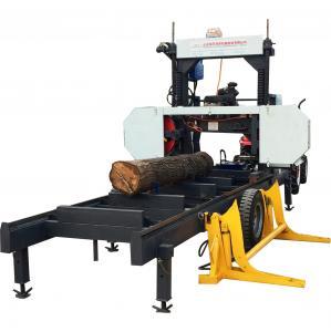 China Gasoline Engine Band Saw Horizontal Wood Cutting Automatic Portable Sawmill on sale