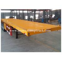 Buy cheap Four Axles Low Bed Semi Trailer For Transport Containers , 40 Tons Loading Capacity from Wholesalers