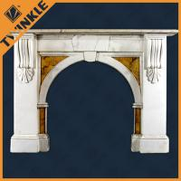 China Natural Rustic Granite Fireplace Mantel , Contemporary Fireplace Mantel on sale