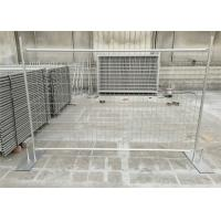 Buy cheap Galvanized temporary fence 84 microns hot dipped galvanized after fabricated 2.1m height x 2.4m width tubing 32mm*1.5 from Wholesalers