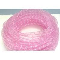 Buy cheap Clear Pink Cable Mesh Sleeve , Protective Mesh Sleeving PET Material from Wholesalers
