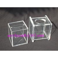 Buy cheap Transparent Cube Contracted Tissue Paper Storage Box Acrylic Tissue Holder from Wholesalers