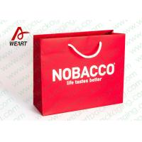 Buy cheap Bright Red Color Personalised Paper Shopping Bags For Business Eco - Friendly from Wholesalers