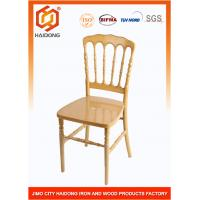 Buy cheap Ceremony Event Wood Banquet Chairs , Lightweight Durable Ivory Napoleon Chair from wholesalers