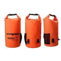 20l Heavy Duty Dry Storage Bags 0.5mm Thickness With Mesh / Front Zipper Pocket