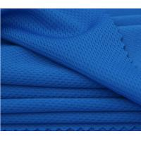 Buy cheap Blue Breathable Circular Knit Fabric , Moisture Absorption Honeycomb Mesh Fabric from wholesalers