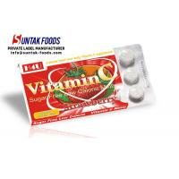 Buy cheap Functional Chewable Vitamin C Candy Tablets , Sugar Free Confectionery Strawberry Sweets from Wholesalers
