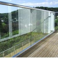 Buy cheap Frameless Building Railing Powder Coating Surface Treatment For Exterior Balcony from wholesalers