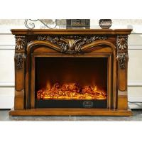 China Home Customizable Modern Electric Fireplace Wood Stainless Steel on sale
