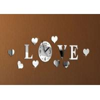 Buy cheap Novelty Diy Love Wall Sticker Clock For Europe Home Decoration , Silver from Wholesalers