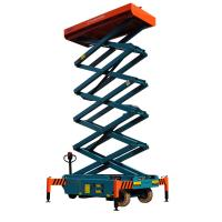 Quality 3 meters height mobile hydraulic scissor lift with motorized device loading capacity at 300Kg wholesale