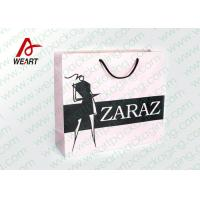 Buy cheap Pretty Custom Paper Shopping Bags With LOGO And Black PP Rope from Wholesalers