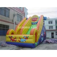 Buy cheap Huge Commercial kids Inflatable Slide With Fire Proof Plato TM from Wholesalers