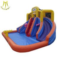 Buy cheap Hansel cheap inflatable outdoor playground inflatable bouncer with water slide factory from Wholesalers