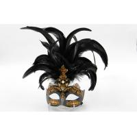 Buy cheap Masquerade Ball Venetian Masks Carnival In Black Hand Made For Women from Wholesalers