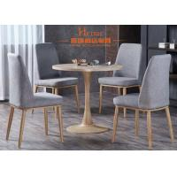 Buy cheap Star Hotel Classical Restaurant Linen Dining Chairs With Wooden Leg from wholesalers