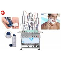 Quality Semi Automatic Spray Can Filling Machine For Shaving Gel Foam Spray Products wholesale