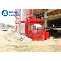2 Tons Construction Man and Material Hoist Twin Cage Working Middle Speed