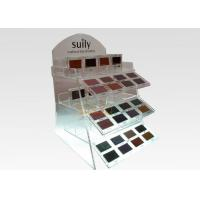 Buy cheap 2 Tiers Floor Clear Display Stand Acrylic Cosmetic Makeup Organizer Logo Printing from Wholesalers