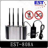 Buy cheap 3G Cell Phone Signal Jammer Blocker EST-808A , 2100 - 2200MHZ Frequency from Wholesalers