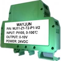 Buy cheap WAYJUN 3000VDC isolation RTD PT100 temperature Signal Isolators(one in one out) Green DIN35 signal converter from wholesalers