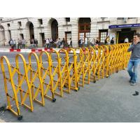 Buy cheap Powder Coated Aluminium Safety Accordion Barrier Gate For Crowd Control With Brakes from wholesalers