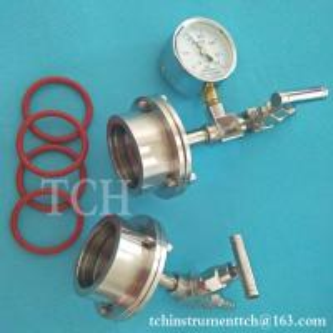 Buy cheap SS quartz alumina tubes flange for 50mm OD tube vacuum furnace, tube furnace flange from wholesalers