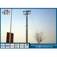 Quality Anti Corrosive 13.8kv 35ft Transmission Line Steel Tubular Pole With Flange Connection wholesale