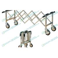 Buy cheap Silver Stainless Steel Funeral Equipment Folding mortuary Trolley with Four Handles from wholesalers