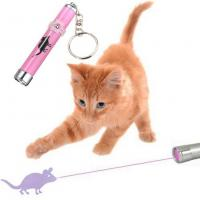 Quality OEM LED Pink Laser Pointer Light Pen With Bright Animation Mouse For Pet Cat wholesale