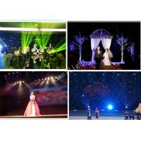 China Blue And  White LED Star Cloth Backdrop For Festival Celebration , LED Light Curtain Wall on sale