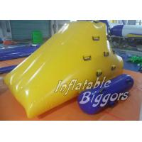 China Inflatable Climber / Inflatable Water Game Puncture-Proof , Yellow Inflatable Water Toys on sale