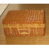 Two Person Use Natural Color Chinese silvergrass Picnic Basket