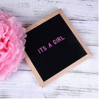 China Black Felt Oak Letter Board on sale
